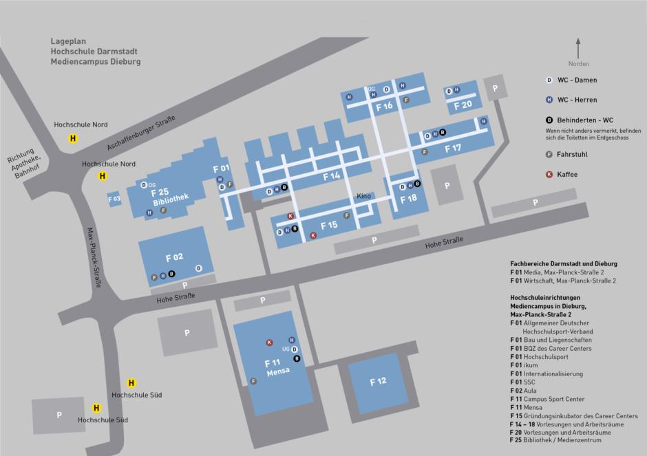 Mediencampus Dieburg - Map